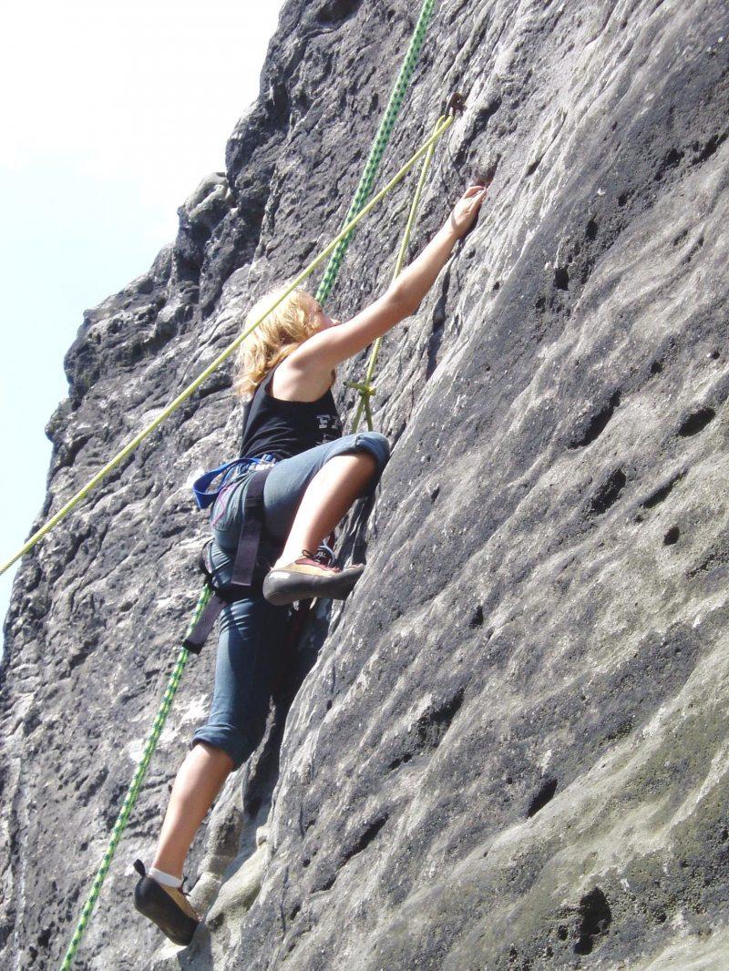 Klettern am Naturfelsen