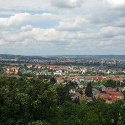 Ausblick vom Fichteturm in Pla
