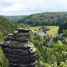 Blick über Bielatal und Ottomü