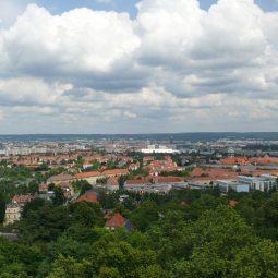 Blick über Dresden vom Fichtet