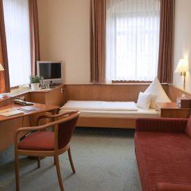 Einzelzimmer im Hotel Martha