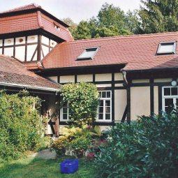 Ferienhaus Freitag Gartenansic