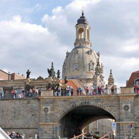 Frauenkirche vom Dampfschiff gesehen