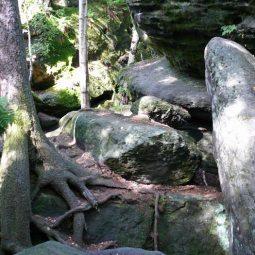 im Felsenlabyrinth bei Langenh