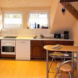 Küche Ferienwohnung im Dachgeschoss