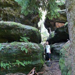 Mit Kindern im Felsenlabyrinth
