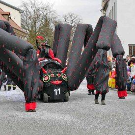 Riesenspinne zum 60. Radeburger Karnevalsumzug