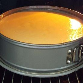 Sächsische Eierschecke im Ofen