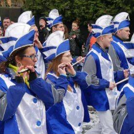 Spielmannszug zum Radeburger Karnevalsumzug