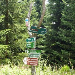 Wegweiser Richtung Kahleberg