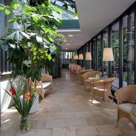 Wintergarten im Hotel Martha