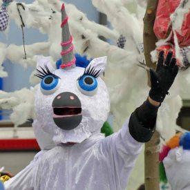 Zauberhafte Einhörner zum Radeburger Karnevalsumzug