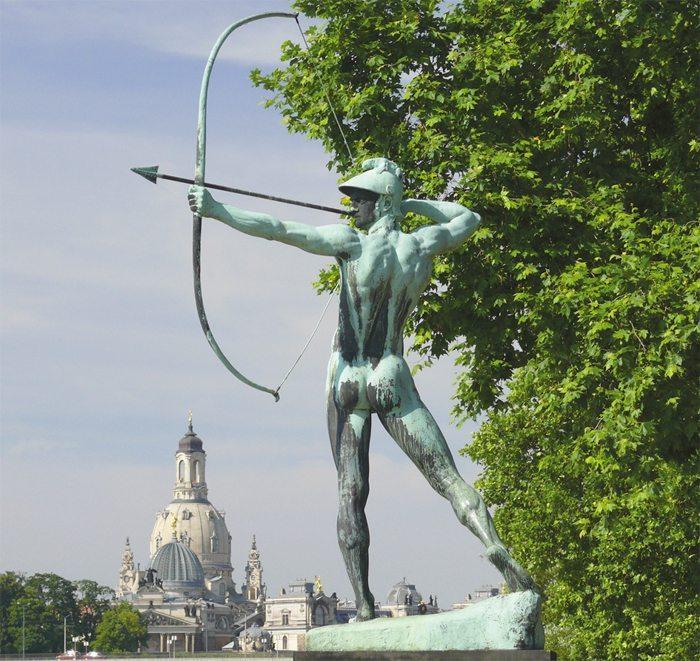Bogenschütze Dresden Neustadt