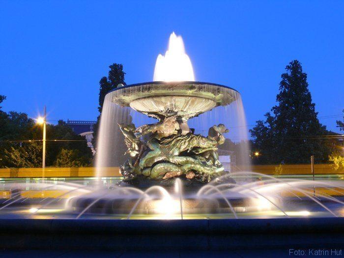Brunnen am Albertplatz Dresden