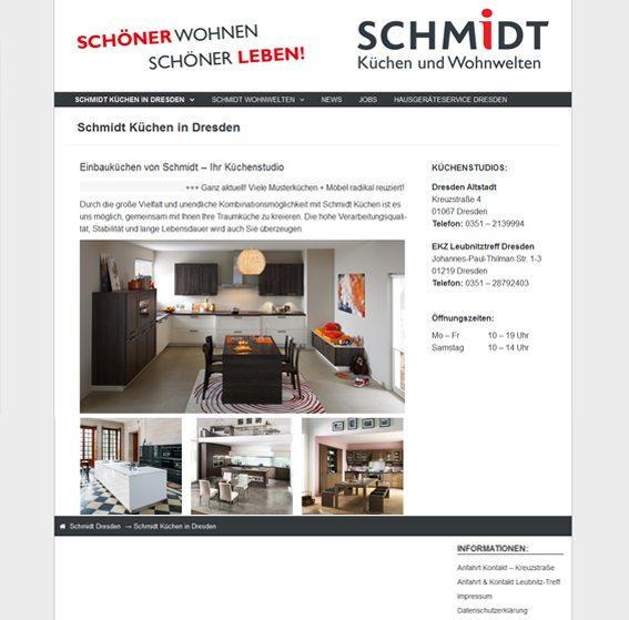 Internetseite Schmidt-Dresden.de - Referenzen