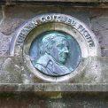 Inschrift Fichteturm Dresden P