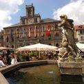 Marktplatz in Weimar mit Neptunbrunnen